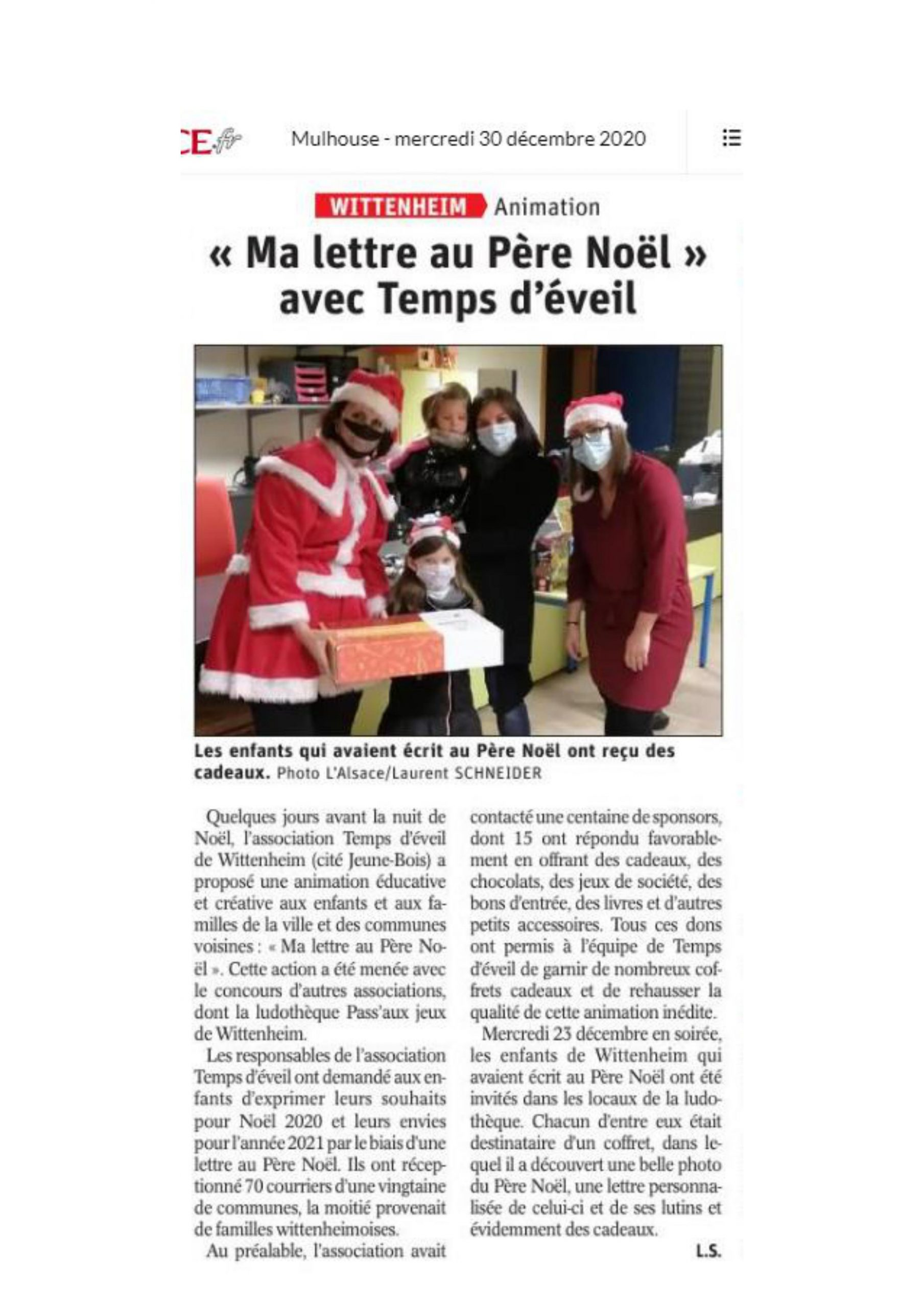article-de-presse- ma-lettre-au-pere-noel-wittenheim-2020